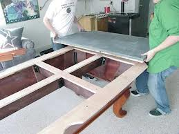 Pool table moves in Worcester Massachusetts