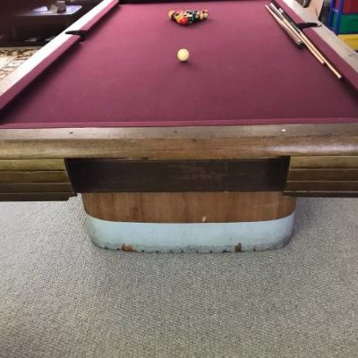 Antique Brunswick Anniversary 9ft Pool Table