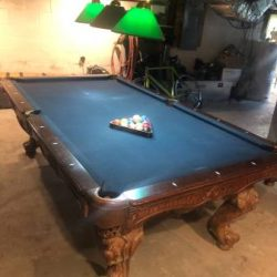 Navy Felt Pool Table
