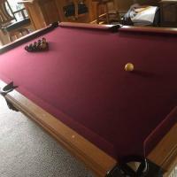 American Heritage Oak Pool Table For Sale